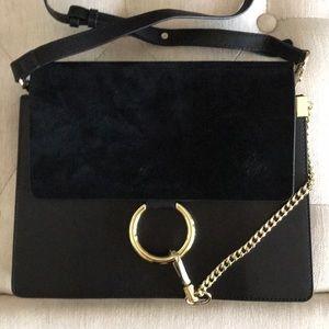 Handbags - Designer inspired gold ring medium size handbag